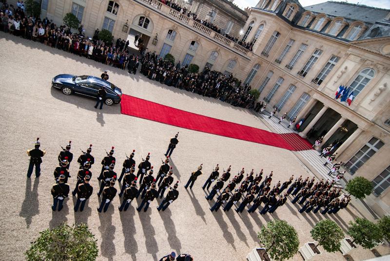 2012 - Passation de pouvoir entre Nicolas Sarkozy et François Hollande