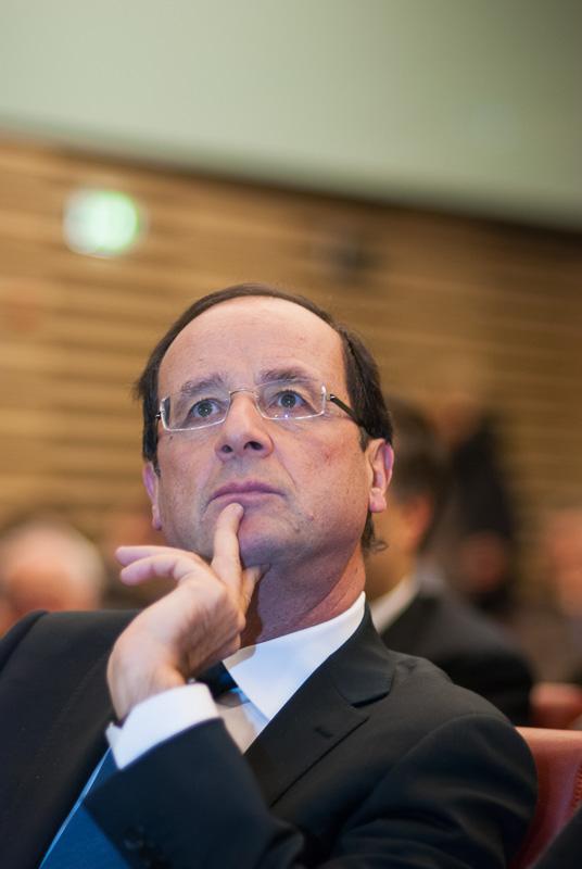 François Hollande lors de la campagne présidentielle de 2012.